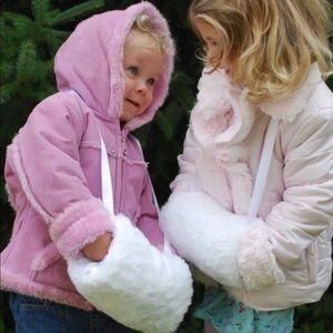 Nwt Brown Fur Kids Hand Muff